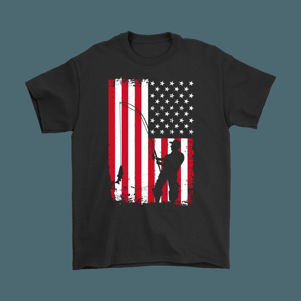 Download American Flag Men's Fishing Shirt - Fishing Gifts for Men ...