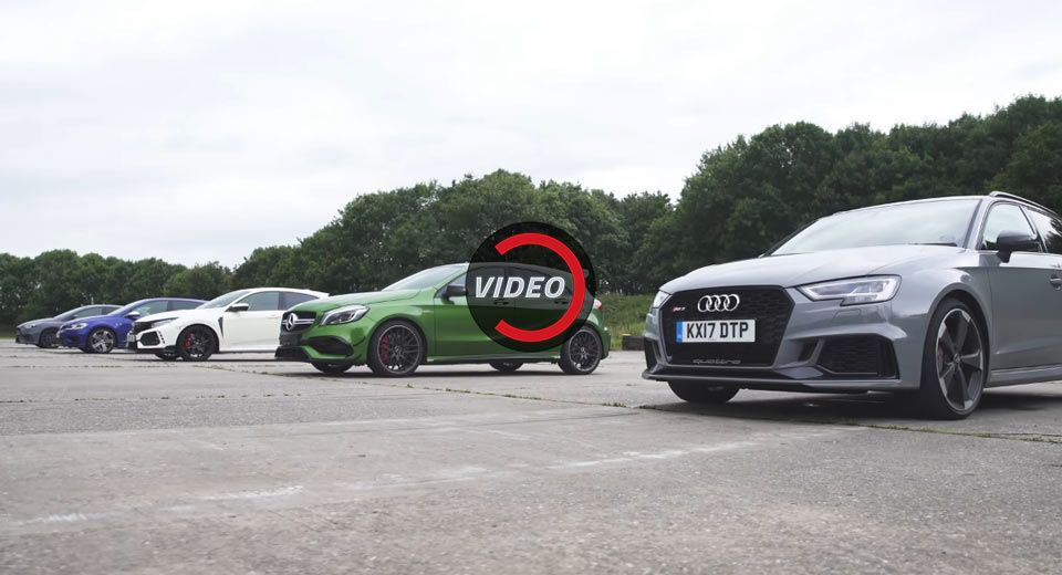 Which Is The Fastest Super Hot Hatch Rs3 Vs Amg A45 Vs Civic Type