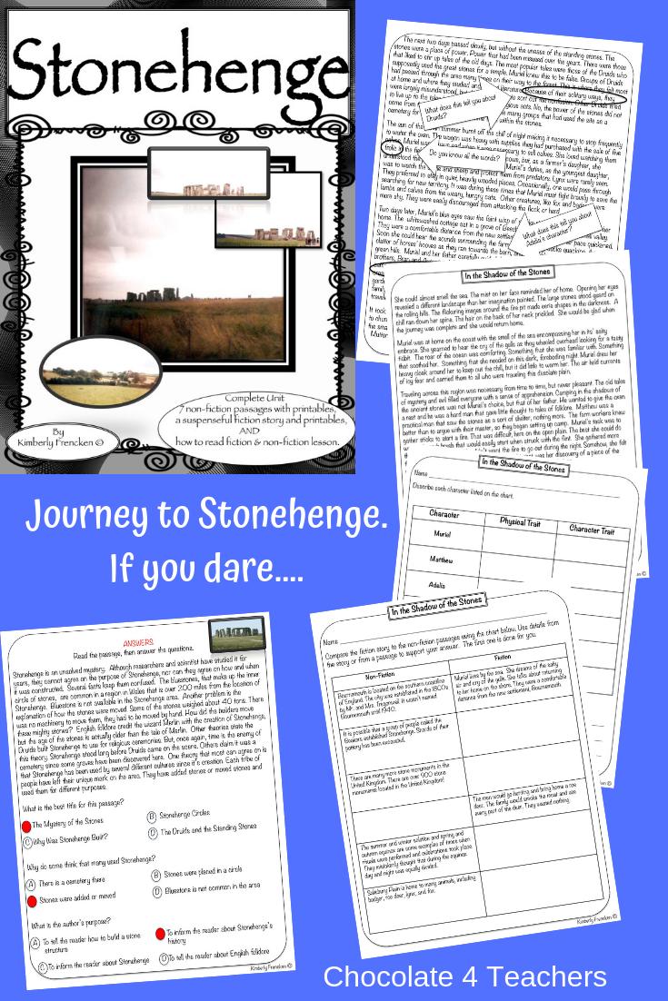 Stonehenge Nonfiction Passages Vocabulary Skills Reading Intervention [ 1102 x 735 Pixel ]