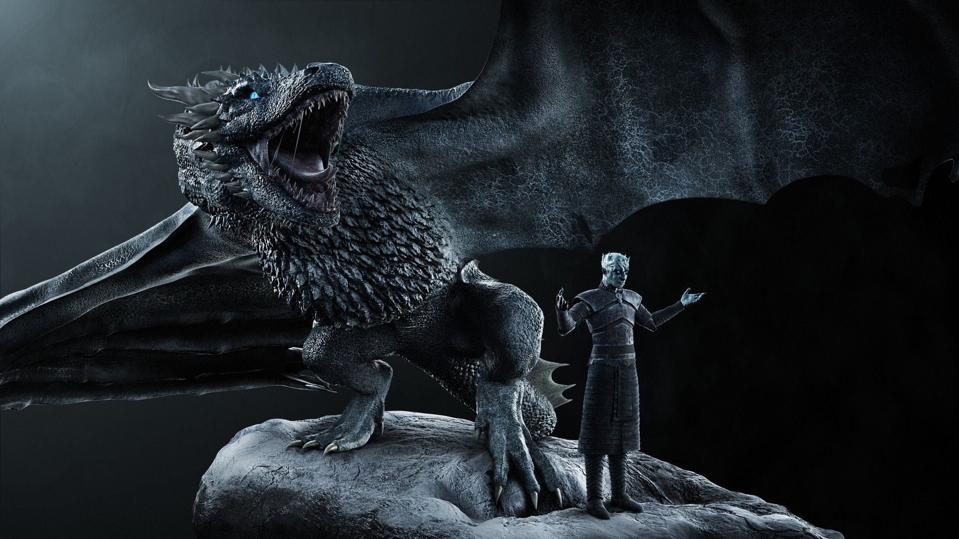 ArtStation Game of Thrones Night king and his ice dragon