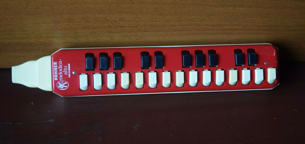 Vintage Hohner Melodica-Alto Red Made in Germany #HOHNER