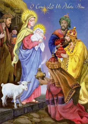 3 Kings Come Let Us Adore Him Box of 18 Religious Christmas Cards FOR SALE • $8.97 • See Photos!  3 Kings Come Let Us Adore Him Box of 18 Religious Christmas Cards by Designer Greetings Front Message: O Come Let Us Adore Him Inside Message: Many blessings to you 282253052388
