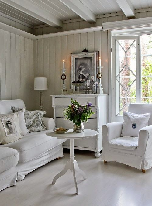 beauty and love: Shabby chic in white