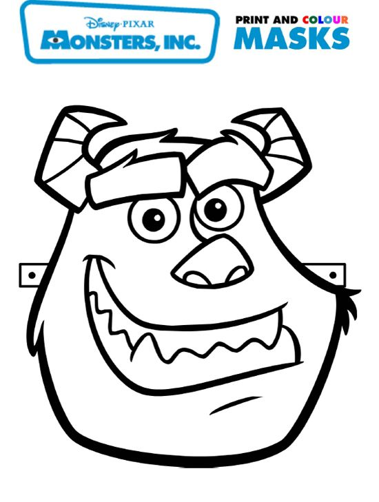 Monsters Inc Sulley Mask
