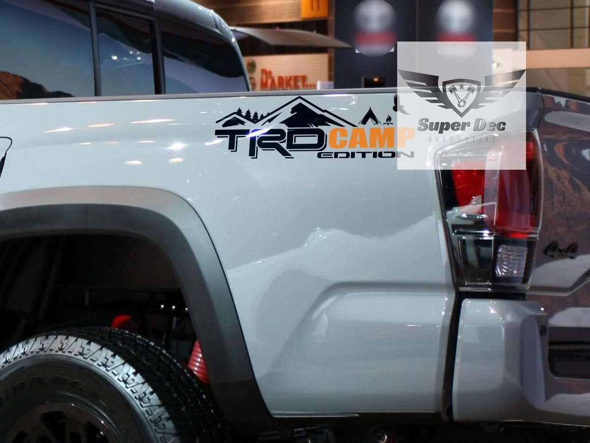Trd 4x4 Pro Sport Off Road Camp Edition Mountains Forest Side Vinyl Stickers Decal Fit To Tacoma Tundra 4runner Fj Cruiser New Sports Cars Trd [ 900 x 1200 Pixel ]