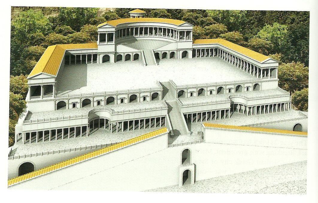 the modernization of the old sanctuary of fortuna primigenia