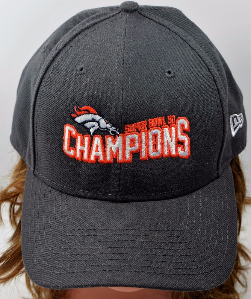752b674d29287f ... low cost new era denver broncos nfl super bowl 50 champions gray cap hat  adjustable newera