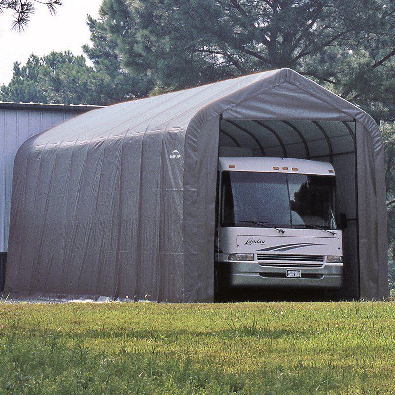 ShelterLogic 15 x 24 x 12 ft. Peak Frame Garage Shelter
