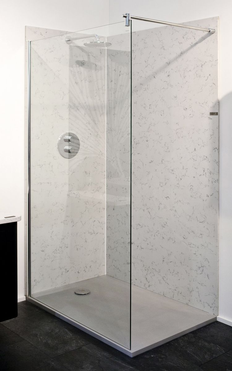 Quartz Cladding Shower And Low Profile Quartz Shower Tray   It Means No  More Grout And