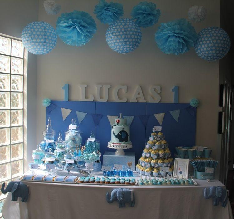 Elephant Theme 3rd Birthday Party: Elephant First Birthday, Baby