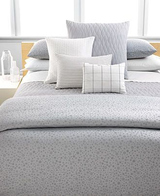 Calvin Klein Home Studio Bedding, Mykonos Pewter Collection   Shop Calvin  Klein Bed U0026 Bath