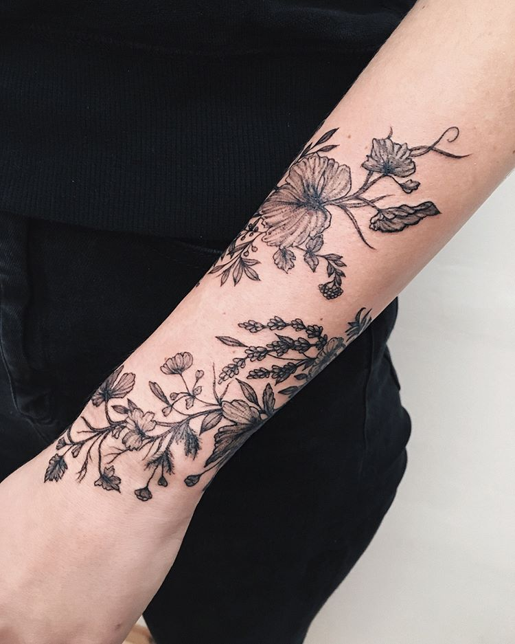 Tiny Vines And Grasses Ygtattooing Gyachyaana