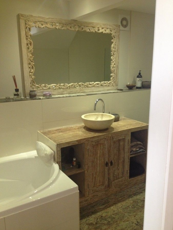 Indian wood carved bathroom vanity - home interior ...