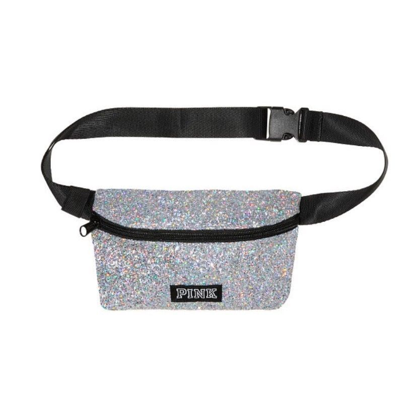 61a81bebdf1da fashion Victoria's Secret Pink Fanny Pack Belt Bag Pouch - SILVER ...