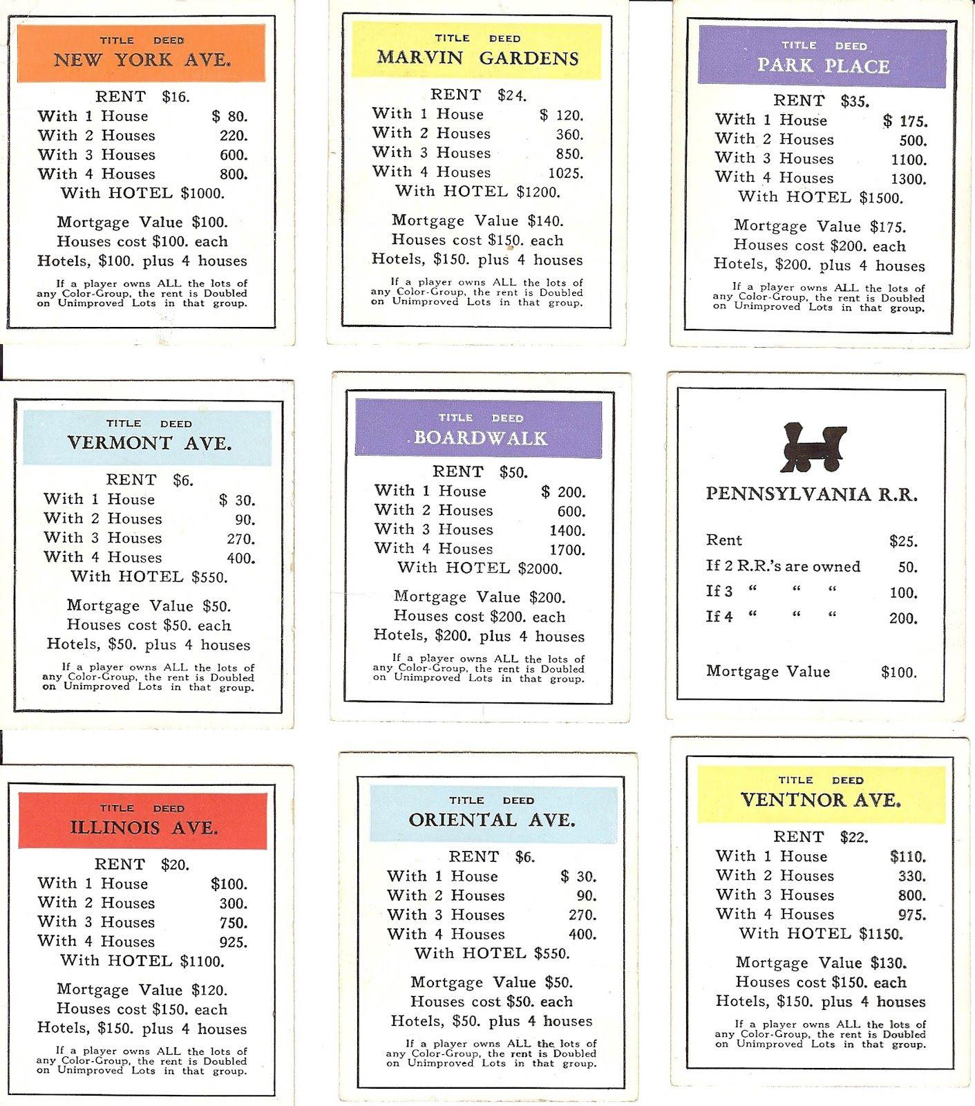 free vintage digital stamps free vintage ephemera monopoly deed