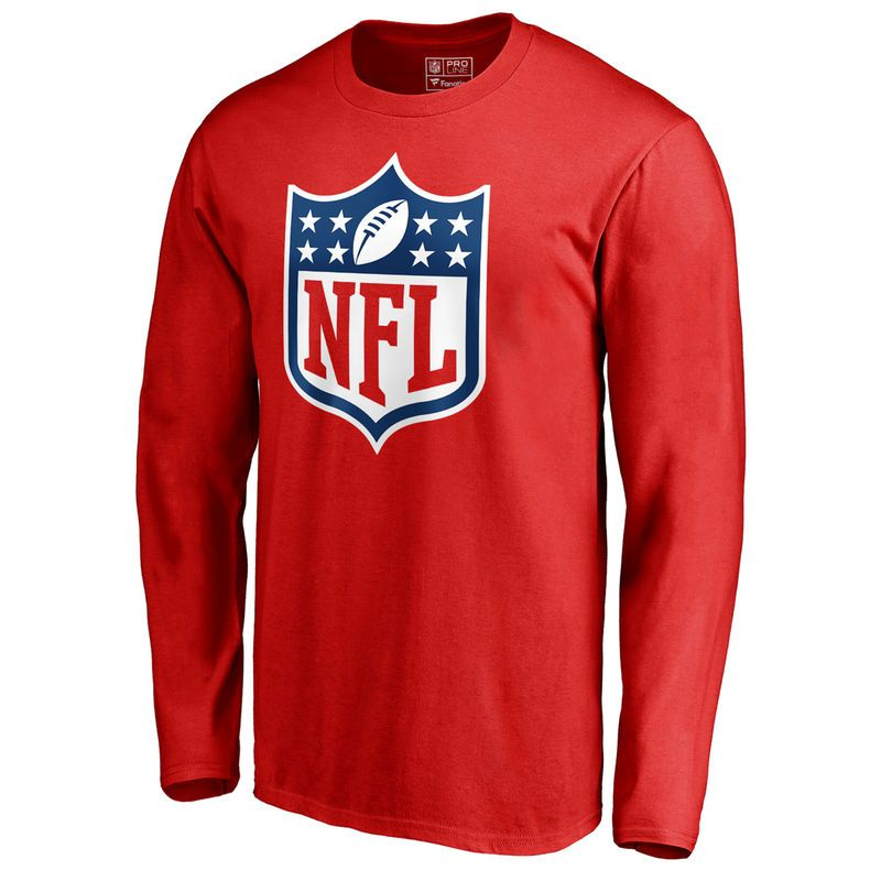 7ca54972f Men s NFL Pro Line by Fanatics Branded Red NFL Shield Primary Logo Big and Tall  Long Sleeve T-Shirt
