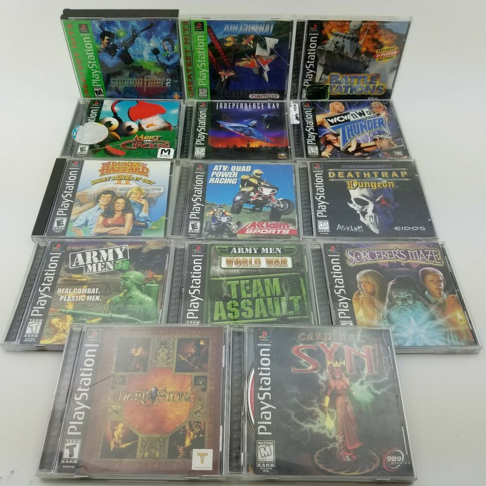 14 Complete Games Lot PlayStation 1 X PS One Darkstone