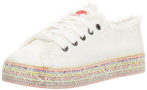 325fc5555b7b1e Rocket Dog Women s Madox Canvas Cotton Rainbow Road Webbing Fashion Sneaker