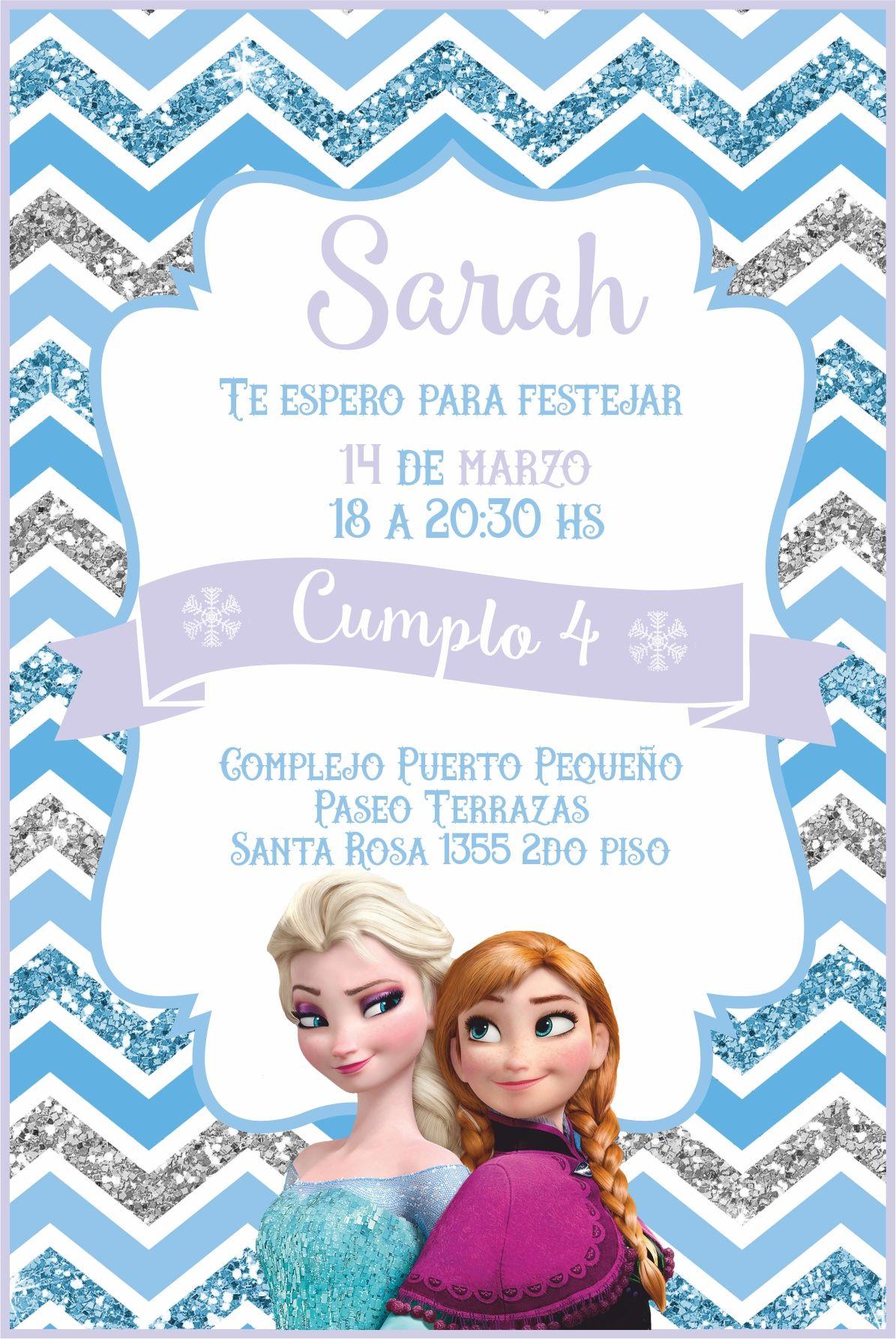 Diannys 12 De Octubre Cumple 3 Invitaciones De Frozen