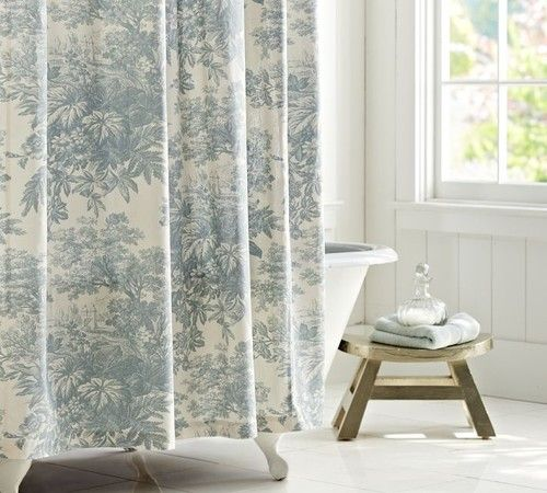 Pottery Barn Matine Toile Shower Curtain Price 6900