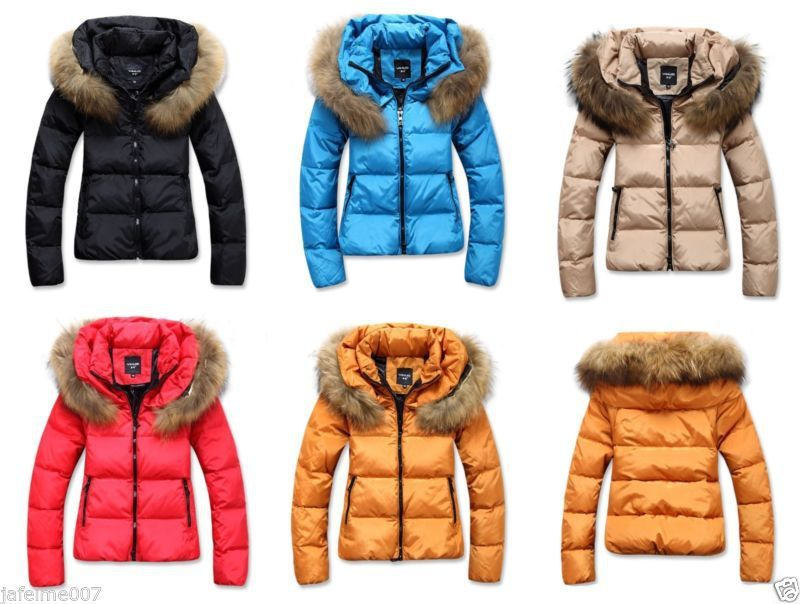 Women-s-No-Hooded-Fur-Collar-Down-Cotton- - Women-s-No-Hooded-Fur-Collar-Down-Cotton-Puffer-Short-Slim-Fit