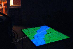 Glow rocks, for gentle light around a garden path