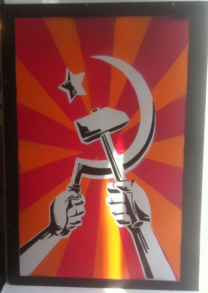 Hammer And Sickle Unite Stencils I Made Pinterest Hammer