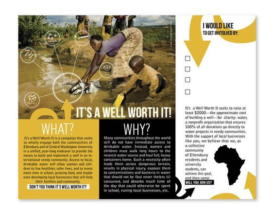 charity water  brochure fundraising brochure
