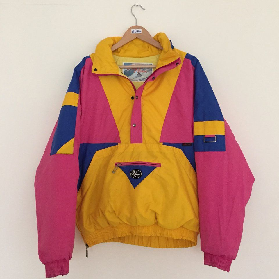 939e5e011f Super cool Stylfrance vintage 80s 90s France rare anorak Pullover ski  snowboard jacket. 🎿 Beautiful out there colours