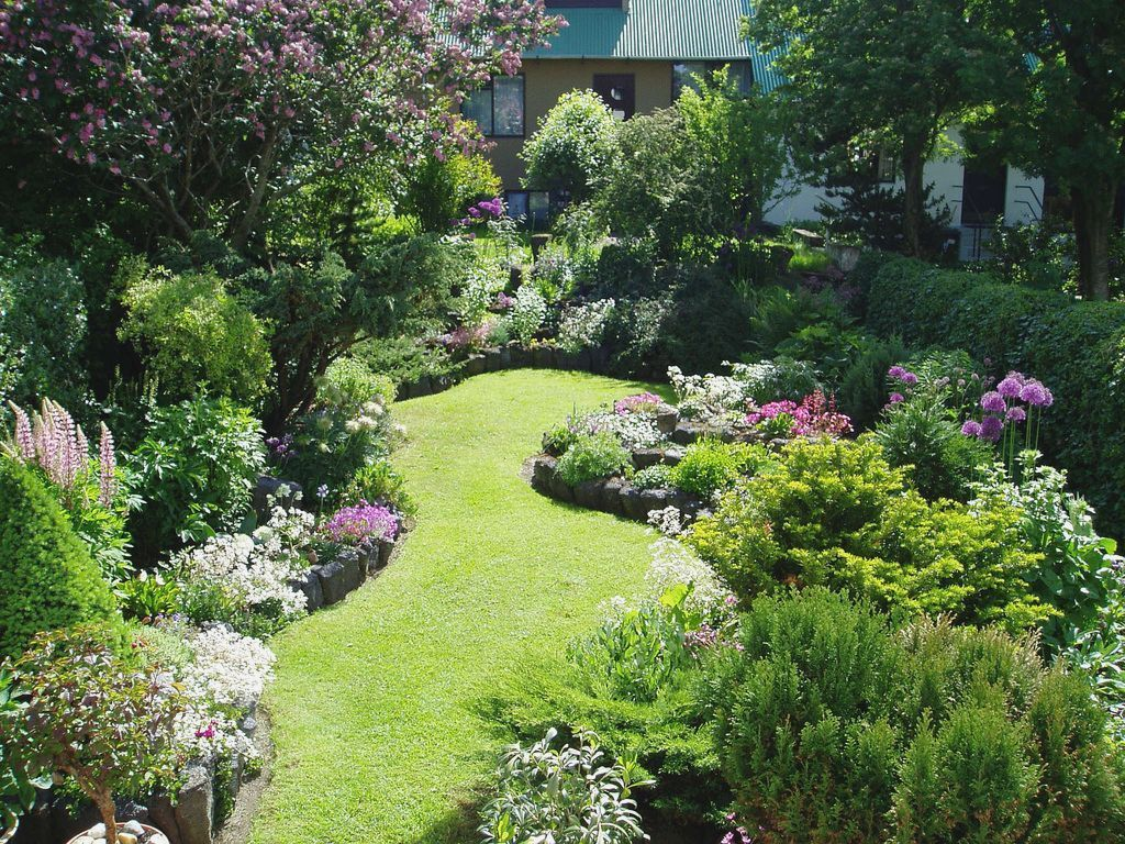 Rectangular Garden Design Layout in 8  Garden design pictures