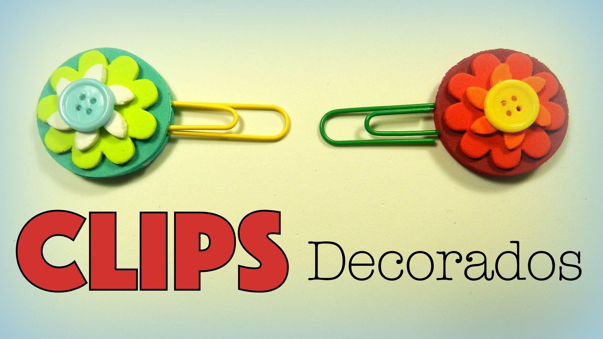 Clips decorados con flores de goma eva - http://www.manualidadeson.com/clips-decorados-flores-goma-eva.html
