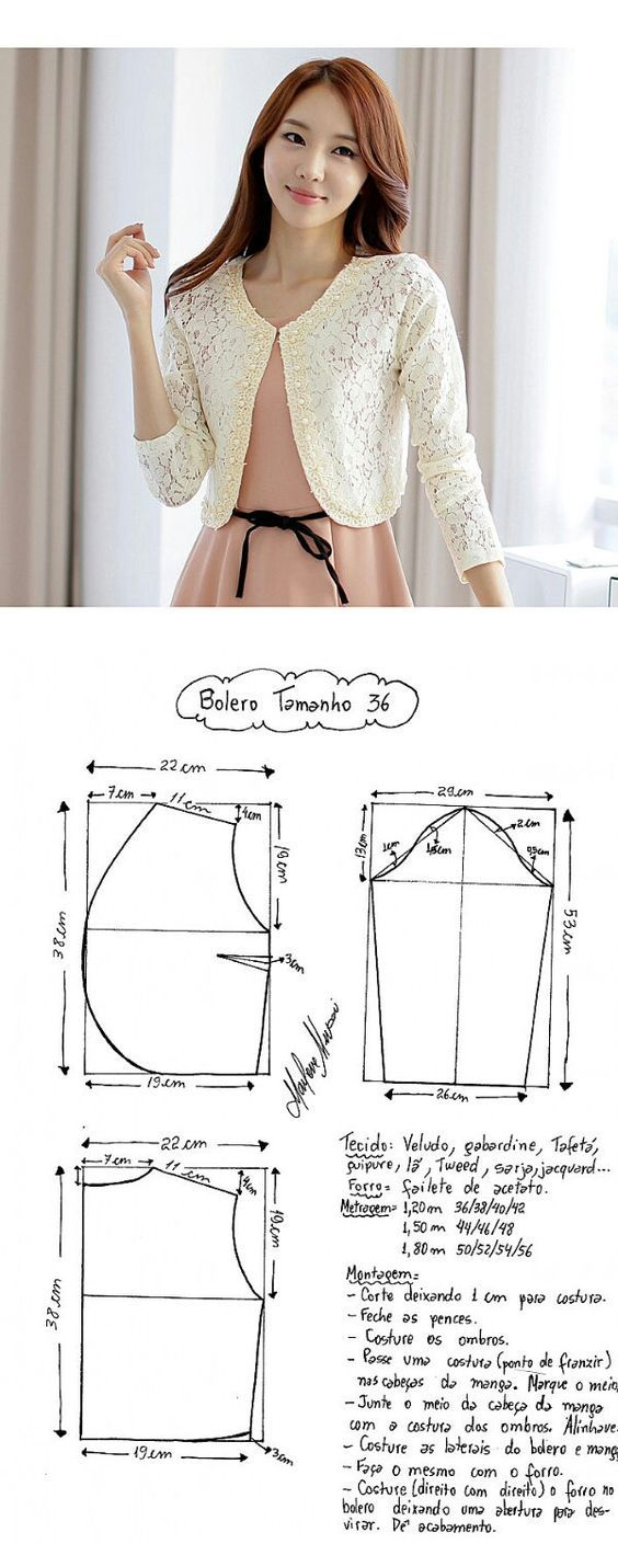 inspiration to make your own | fashion | Pinterest | Boleros ...