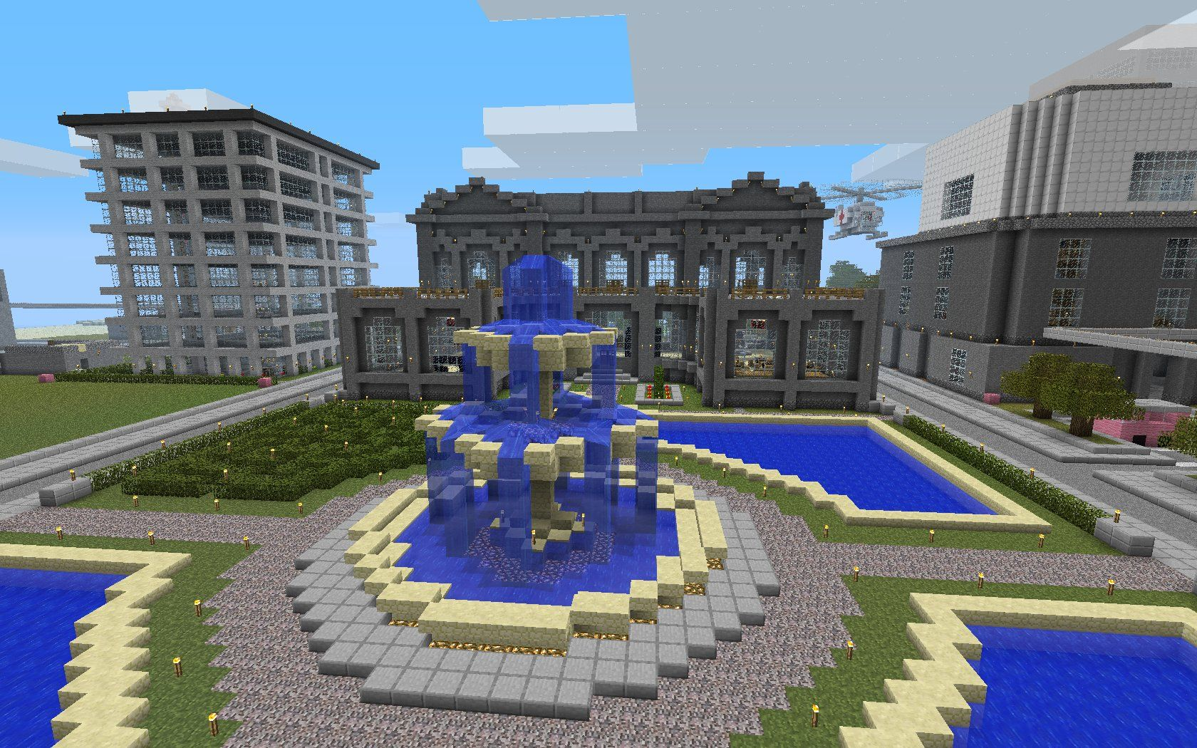 Fountain Minecraft Awesome Minecraft Fountain Minecraft