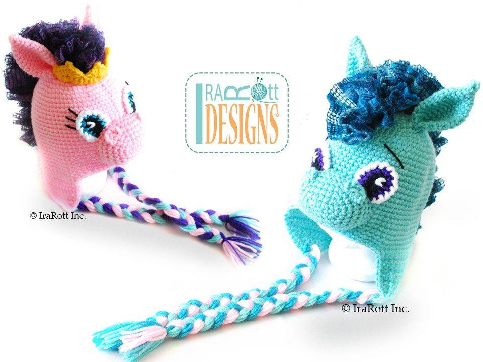 Circus Pony Hat PDF Crochet Pattern | Gorros lana, Gorro tejido y ...