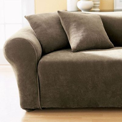 Sure Fit Stretch Pique Box Cushion Sofa Slipcover Products