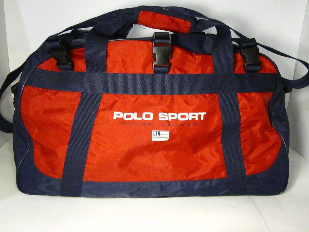 23b1e6d08d86 vintage ralph lauren polo sport duffle gym bag vtg 90 s