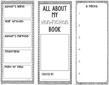 All About My NonFiction Book Generic Note Taking Bookmark