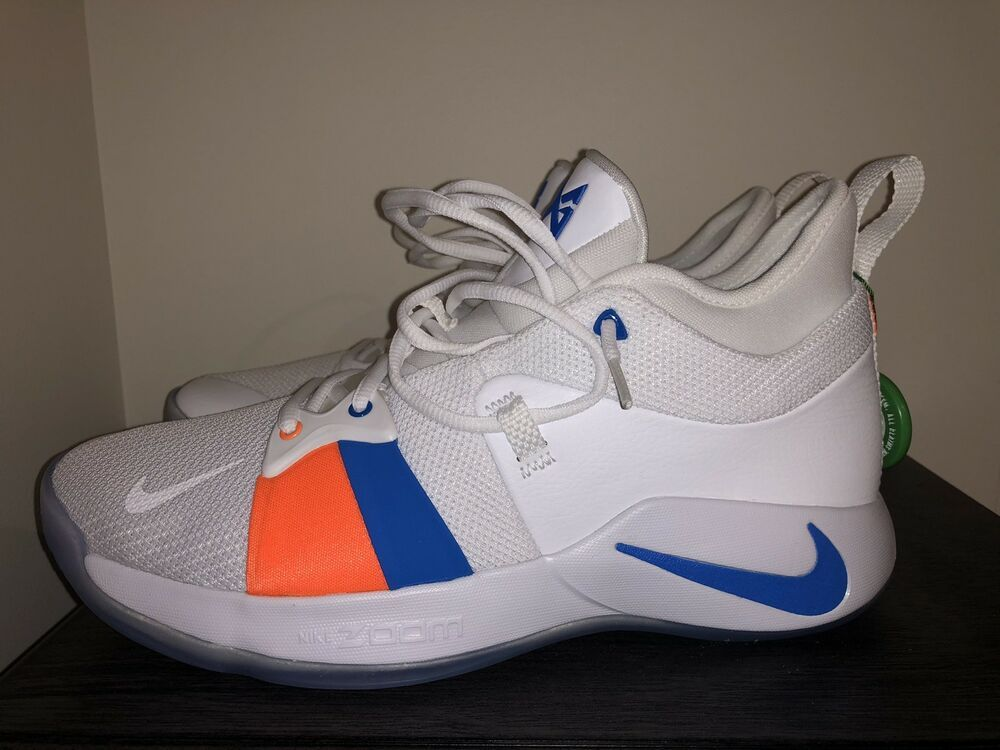 size 40 dc694 f36db NEW MEN NIKE PG 2 PAUL GEORGE BASKETBALL SHOES White/Blue ...