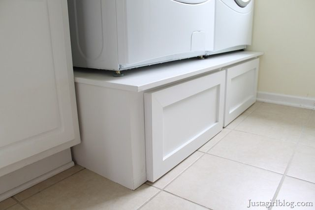 DIY Pedestal Drawers For Laundry Room. Love Them, But Then I Would Have To  · Laundry Room PedestalWasher And Dryer ...