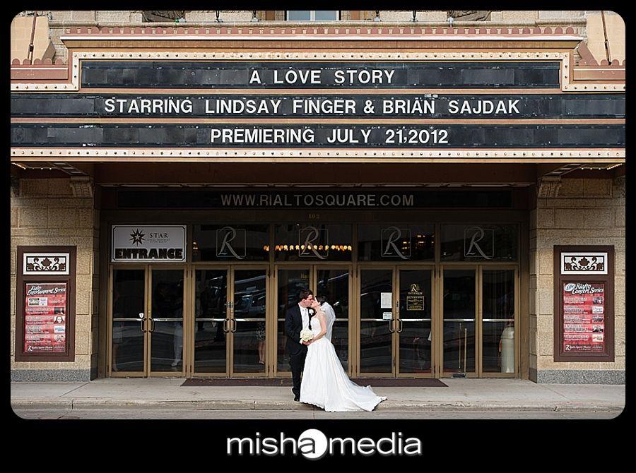 Rialto Square Theatre Weddings Lindsay Brian Theatre Wedding Rialto Theatre