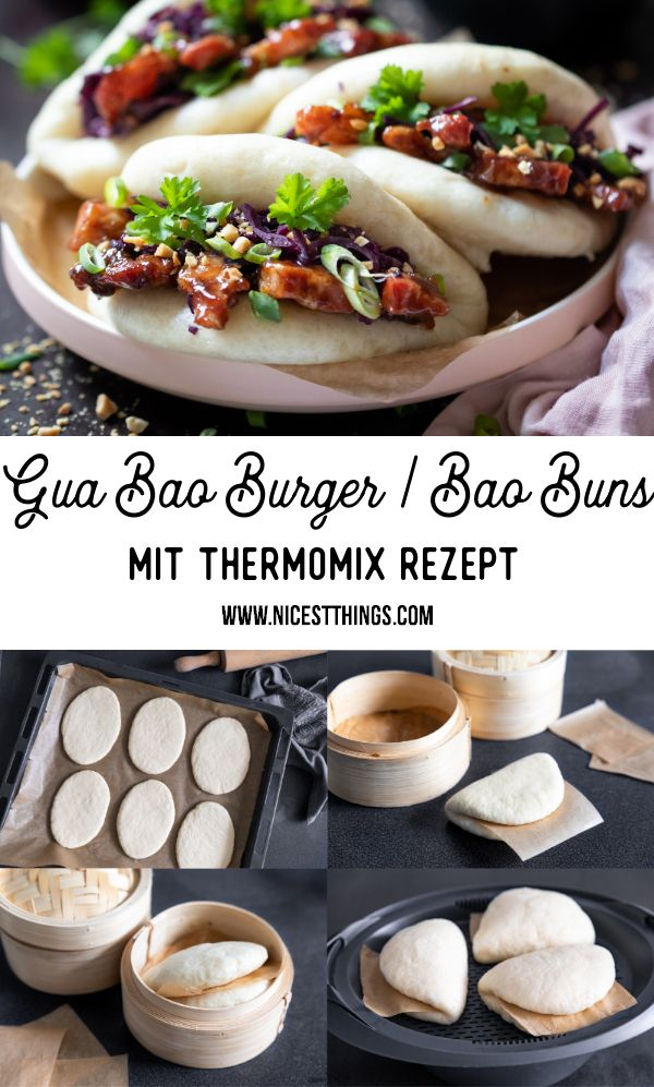 Gua Bao Burger: Bao Buns Rezept mit Thermomix Variante - Nicest Things