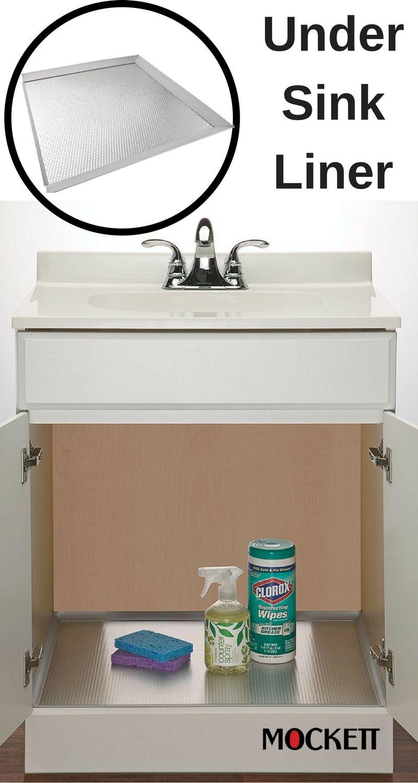 Under Sink Liner Aluminum Under Sink Under Kitchen Sinks Sink