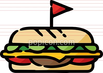 Deli Sub Sandwich Doodle Sketch Icon How To Draw Hands Sub Sandwiches Hand Drawn Icons