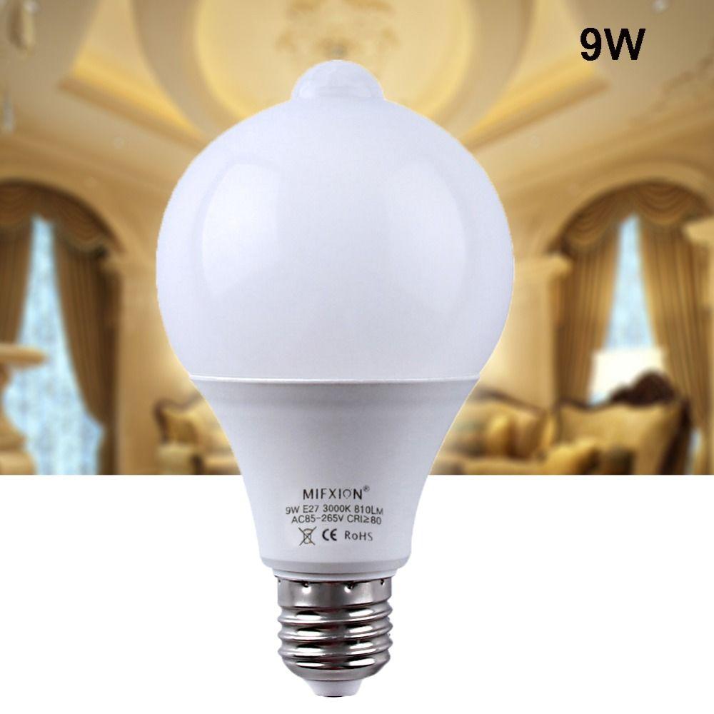 High Quality New E27 9w Pir Auto Motion Sensor Lamp Led Bulb Auto Smart Infrared Body Light Bulbs In Cases From Consumer Ele Led Bulb Motion Sensor Light Bulbs