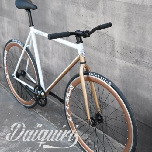On Sale 700c Daiquiri White Copper Fixed Gear Bike Fixie Single