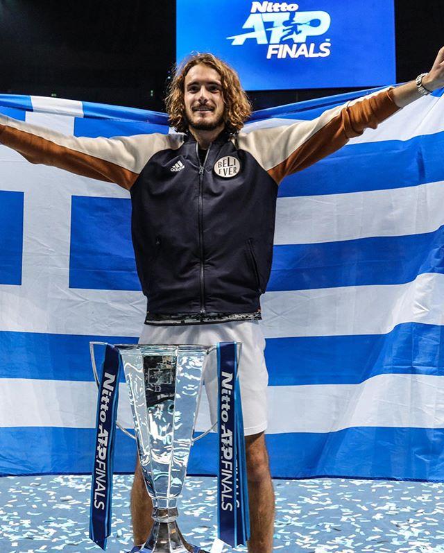 Stefanos Tsitsipas Tsuper Tspecial Atptour Adidastennis Nittoatpfinals Heretocreate Greek Beauty Photo Instagram