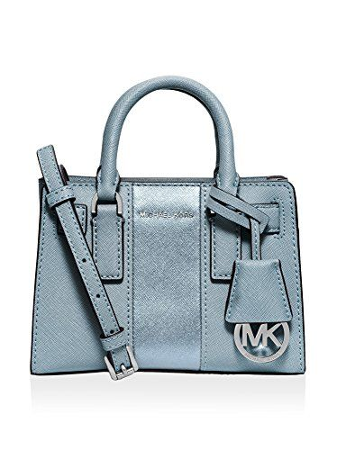 966d40f59cba MICHAEL Michael Kors Womens Dillon Stripe Mini Top Zip Crossbody (Powder  Blue/Silve) ** Want to know more, click on the image.