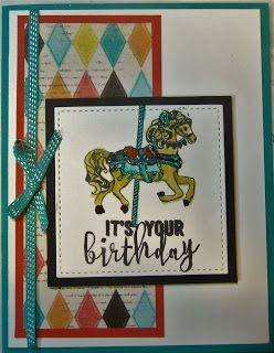 Crafty Maria's Stamping World: Carousel Birthday - Freshly Made Sketches 268