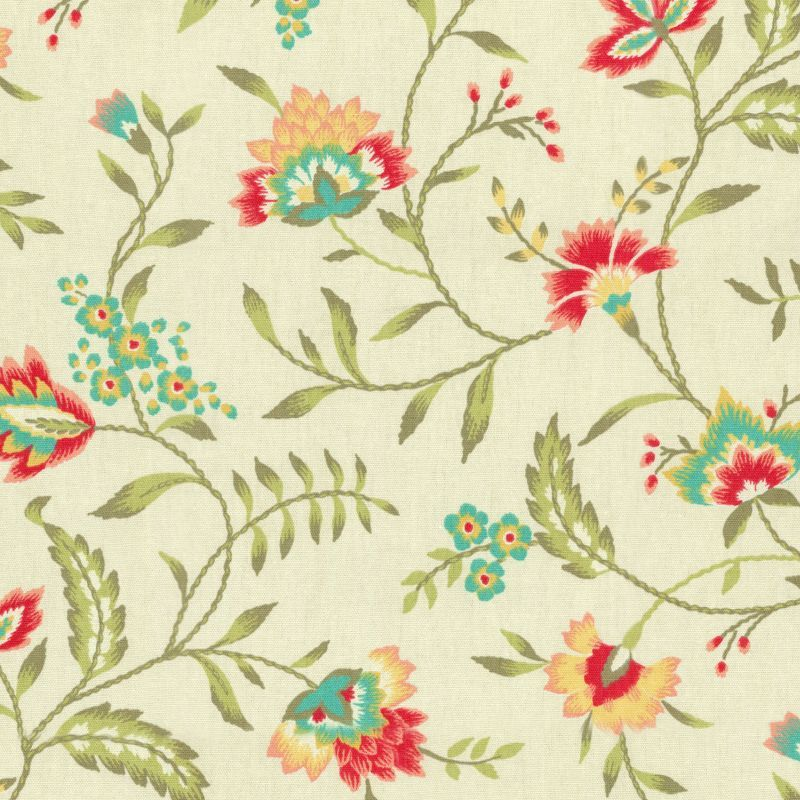 6988311 Waverly CAROLINA CREWEL BLOOM 679770 Floral Print