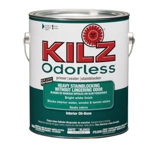 Kilz 1 Gal Oil Based White Odorless Primer Kilz Painting Trim White Primer